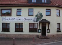 Eingang Landhotel zum Baier Dermbach/Unteralba